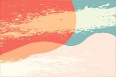 Fondo rosado del extracto geométrico para el diseño del fondo de las ilustraciones de la presentación, de la bandera, del cartel  ilustración del vector