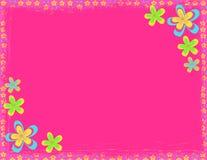 Fondo rosado del hippie de la flor ilustración del vector