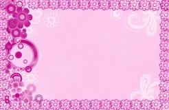 Fondo rosado del marco de la flor Fotografía de archivo libre de regalías