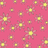 Fondo rosado del modelo de flor Imagen de archivo libre de regalías