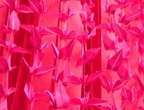 Fondo rosado del origami Fotografía de archivo libre de regalías