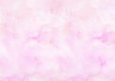 Fondo rosado del papel de dibujo de la acuarela Fotos de archivo libres de regalías