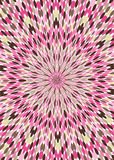 Fondo rosado del papel pintado del caleidoscopio de Brown Imagen de archivo libre de regalías