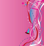 Fondo rosado del partido Ilustración del Vector