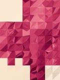 Fondo rosado del triángulo de la arruga ilustración del vector