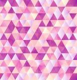 Fondo rosado del vintage del triángulo del extracto del vector Imagenes de archivo