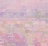 Fondo rosado delicado del triángulo Imagenes de archivo