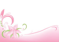Fondo rosado floral Imagen de archivo