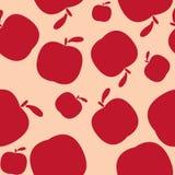 Fondo rosado inconsútil del modelo con las manzanas ilustración del vector