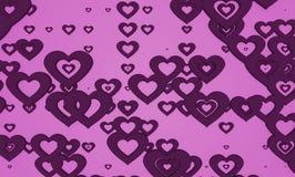 Fondo rosado oscuro del modelo de la forma del corazón Fotografía de archivo libre de regalías