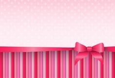 Fondo rosado Valentine Day Gift Card Holiday del extracto del modelo ilustración del vector