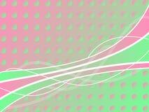 fondo Rosado-verde del círculo con las líneas Foto de archivo