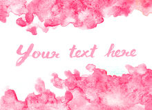 Fondo rosado vivo de la acuarela Fotos de archivo