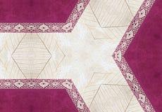 Fondo rosado y amarillento con el cordón Imagenes de archivo
