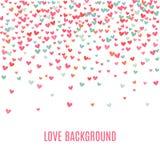 Fondo rosado y azul romántico del corazón Ilustración Fotos de archivo