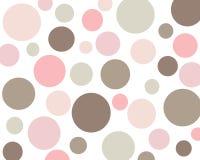 Fondo rosado y marrón retro de los círculos fotografía de archivo libre de regalías