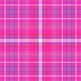 Fondo rosado y púrpura de la tela escocesa Fotos de archivo