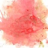 Fondo rosado y rojo de la acuarela Foto de archivo libre de regalías