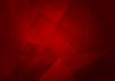 Fondo rosso astratto con forma Progettazione dell'illustrazione di vettore Fotografie Stock