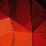 Fondo rosso astratto del mosaico del poligono Fotografie Stock