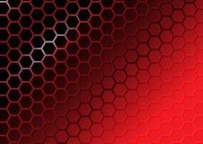 Fondo rosso astratto del poligono Fotografie Stock
