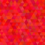 Fondo rosso astratto del triangolo Fotografie Stock Libere da Diritti