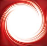 Fondo rosso astratto di turbinio di vettore Immagini Stock