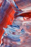 Fondo rosso, bianco e blu acrilico fotografia stock libera da diritti
