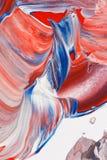 Fondo rosso, bianco e blu astratto immagine stock