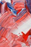 Fondo rosso, bianco e blu luminoso fotografia stock