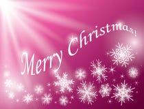 Fondo rosso - Buon Natale - carta con i fiocchi di neve Royalty Illustrazione gratis