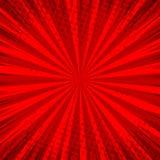 Fondo rosso comico astratto per progettazione di Pop art di stile Retro contesto del modello di scoppio Effetto dei raggi luminos illustrazione vettoriale