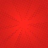 Fondo rosso comico dei retro raggi Fotografia Stock
