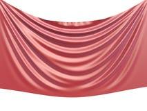 Fondo rosso 3D del tessuto di seta Fotografia Stock