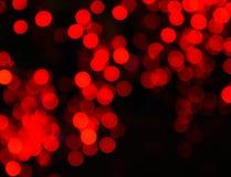 Fondo rosso 3 del bokeh Fotografia Stock