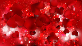 Fondo rosso del bokeh del cuore Fotografie Stock
