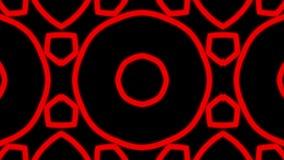 Fondo rosso del caleidoscopio dell'ornamento illustrazione vettoriale