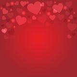 Fondo rosso del cuore Fotografia Stock