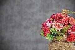 Fondo rosso del fiore Fotografie Stock Libere da Diritti