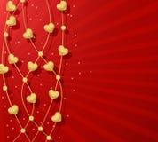 Fondo rosso del giorno del biglietto di S. Valentino Fotografie Stock Libere da Diritti