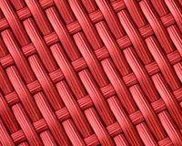 Fondo rosso del modello di tessuto di canestro Immagini Stock Libere da Diritti