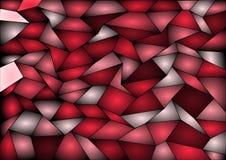 Fondo rosso del mosaico delle mattonelle di vettore Fotografia Stock