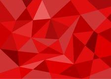 Fondo rosso del poligono Fotografia Stock