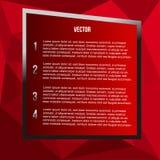 Fondo rosso del poligono per testo su fondo colorato royalty illustrazione gratis