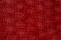 Fondo rosso del tessuto Fotografie Stock Libere da Diritti