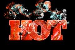Fondo rosso del testo dei peperoncini rossi caldi Immagine Stock Libera da Diritti