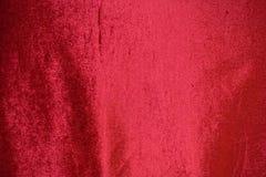 Fondo rosso del velluto, struttura rossa del tessuto fotografie stock