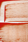 Fondo rosso dell'acquerello di Brown Immagine Stock