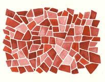 Fondo rosso dell'acquerello nel vettore Fotografia Stock