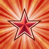 Fondo rosso dell'esercito di scoppio della stella Fotografie Stock